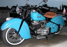 hubby's award winning 1947 Indian Chief Motorcycle