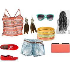 Summer Vacation, created by pinksugar1357 on Polyvore