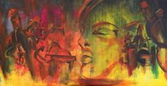 "Saatchi Art Artist Florin Coman; Painting, ""All that JAZZ - large artwork"" #art"