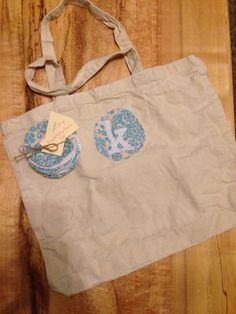 Gift set: Monogram tote + 10 reusable cotton rounds. Great for bridesmaid gifts, bride gift, or birthday gift!