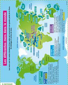Fiche exposés : les différentes mers dans le monde