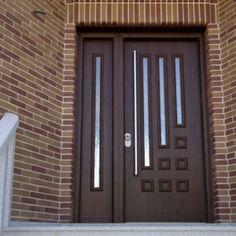 Modern Entrance Door, Main Entrance Door Design, Wooden Front Door Design, Modern Exterior Doors, Double Door Design, Door Design Photos, Home Door Design, Pooja Room Door Design, Door Gate Design