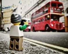 Photographs of a LEGO minifig taking pictures in London & The UK