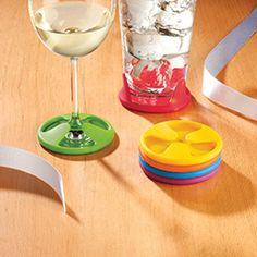 Coasters that grip to your cup so you never have to search for one to set your cup on.