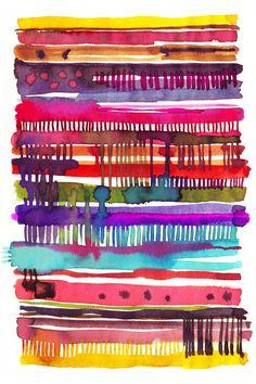 My knitting watercolor - Ninola