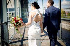 My wedding dress, back view. Nicole Miller Bridal.