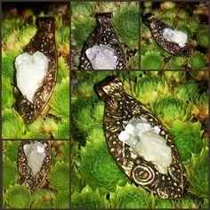 Metal Clay, Bronze, Fantasy, Christmas Ornaments, Holiday Decor, Home Decor, Rhinestones, Silver, Nature