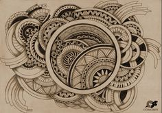 Original and creative set of fine artwork by Jack Campfunk from Indonesia Zentangle Drawings, Doodles Zentangles, Zentangle Patterns, Doodle Drawings, Doodle Art, Easy Zentangle, Mandala Art, Mandala Drawing, Tangle Art