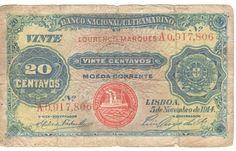 1914 Mozambique Lourenco Marques 20 centavos note