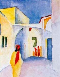 August Macke (3 de febrero de 1887 – 26 de septiembre de 1914) fue uno de los principales miembros del grupo expresionista alemán Der Blaue Reiter (El Jinete Azul). Vivió durante un período especialmente innovador del arte alemán, con el desarrollo del Expresionismo y la llegada de los sucesivos movimientos de vanguardia que estaban apareciendo en el resto de Europa.