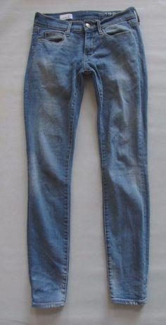 GAP 1969 Legging Jean 25 0 Riot Light Distressed Skinny Jegging Stretch Denim #GAP #LeggingsSlimSkinny