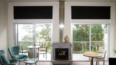 dark block out Windows, Double Roller Blinds, Window Treatments, Blinds, Window Coverings, Home, Family Room, Second Floor, Room
