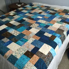 Blocks together, now for the borders. Double slice layer cake Missouri Star Quilt Company