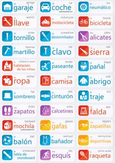 Spanish Language Learning Stickers