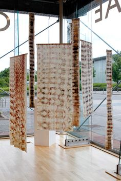 Claire Cawte Delicate prints of natural materials on silk