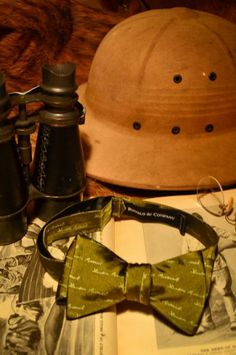 Buy the Teddy Roosevelt Bow Tie (Safari Green) from Buffalo   Company 8d363643a6a5