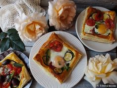 Leveles tésztában sült tükörtojás, sült zöldségekkel