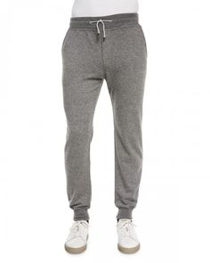 Brunello Cucinelli Cashmere Knit Jogger Pants Gray Xx Gray | Clothing