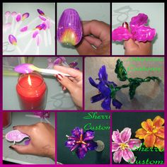 Plastic spoon lily tutorial by Sherries Customs