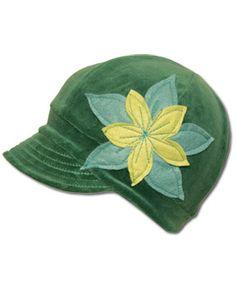 Envy Green Flower Hat