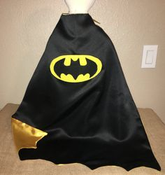 Batman Cape/ Custom Superhero Capes Available Batman Cape, Bat Symbol, Baby Batman, Captain Underpants, Iron Man, Superhero Capes, Black Satin, Matte Black, 4th Birthday Parties
