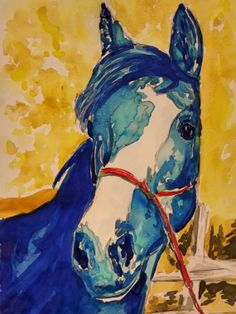 Watercolor Study Horse painting by contessabrooke on Etsy, $30.00