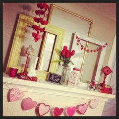 Valentines Day mantle!
