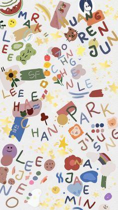 Name Wallpaper, Wallpaper Backgrounds, Iphone Wallpaper, Nct Album, Nct Dream Jaemin, Nct Life, Mark Nct, Jisung Nct, Cute Patterns Wallpaper