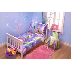 Disney - TinkerBell Pixieland 4-Piece Toddler Bedding Set