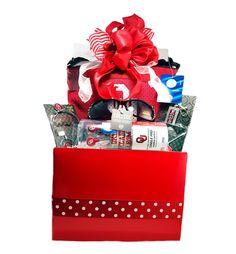 University Of Oklahoma Sooners Gift Basket Inspired Red Basket Tailgating Gift Set For Her