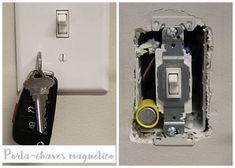 porta chaves magnetico ima diy 2