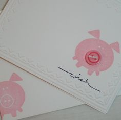 Button Buddies Pig Wish Card.  Etsy Store but might be able to copy the little piggy