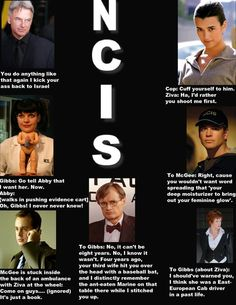 NCIS - Gibbs, Ziva, Abby, DiNozzo, McGee, Ducky and Jennie....best group ever!