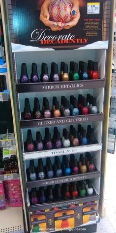 Spotted: Sinful Colors Holiday 2013 Decorate Decadently end-cap display (26 NEW SHADES)