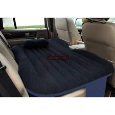 Inflatable Travel Camping Car Seat Sleep Rest Mattress Air Bed Black And Blue