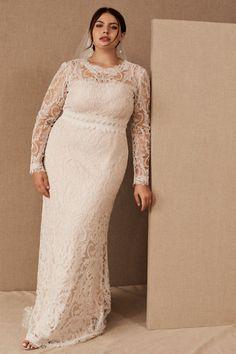 Tadashi Shoji Didion Gown - BHLDN Bhldn Wedding Dress, Big Wedding Dresses, Wedding Dress Trends, Bridal Dresses, Wedding Frocks, Wedding Wear, Dream Wedding, Simple Gowns, Elopement Dress