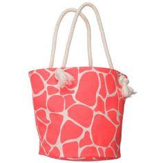 Giraffe Beach Bag Giraffe Crafts, Giraffe Decor, Cute Giraffe, Giraffe Print, Pink Summer, Summer Colors, Giraffe Clothes, Fabric Animals, Jute Bags