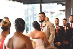 Ceremonies in the Grand Hall eliminate the worry of inclement weather but still including the beautiful ambiance of the botanical garden. Elizabeth & Ashley Co. Photography