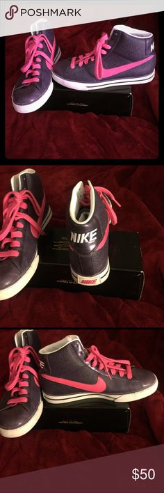 Women's sneakers Purple and Hot Pink colored sneakers, just in time for Spring comfortable fit Nike Shoes Sneakers