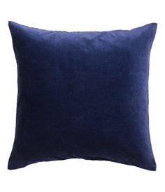 Kuddfodral i sammet | Mörkblå | Home | H&M SE