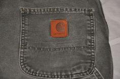 CARHARTT  CARPENTER WORK PANTS Men's Sz 38x36 Green 100% Cotton   #Carhartt #Carpenter
