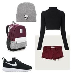 """""""Untitled #3"""" by c-yianaki on Polyvore featuring Abercrombie & Fitch, Balmain, NIKE and Victoria's Secret"""