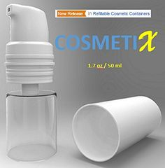 Airless Pump Bottle - Travel Size Toiletries Container - Refillable 1.7 oz Plastic Bottle / Airless Pump Dispenser Travel Set, 6-Pack by CosmetiX >>> Special  product just for you. See it now! : Travel toiletries