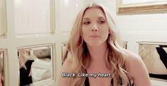 Black. Like my heart. Bless Natalie Dormer!