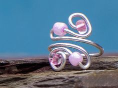 Pink Wave Toe Ring