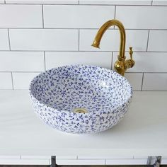 White porcelain basin with an all-over royal blue floral pattern. Intricate, delicate and elegant design. Diameter Height Hand finished porcelain basin from the London Basin Company.- JUST GORGEOUS! Interior Minimalista, Contemporary Bathrooms, Bathroom Interior Design, Beautiful Bathrooms, House Rooms, Bathroom Inspiration, Interior Inspiration, Cheap Home Decor, Home Decor Accessories