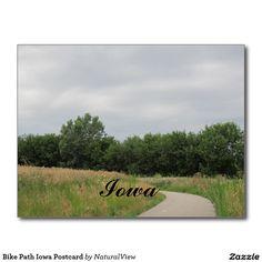 Bike Path Iowa Postcard