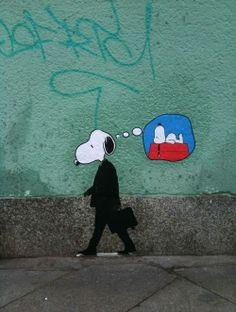 Banksy Snoopy StreetArt