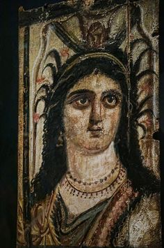A triptych portrait of the Egyptian goddess Isis Romano-Egyptian 100 CE Tempera on wood |