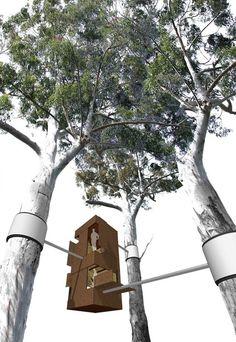 Refugio para Activistas en el Valle Styx. Imágen Cortesía de Andrew Maynard Architects